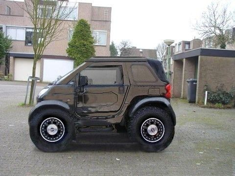 Smart Car Hummer!  Aaaaah, it's so cute!