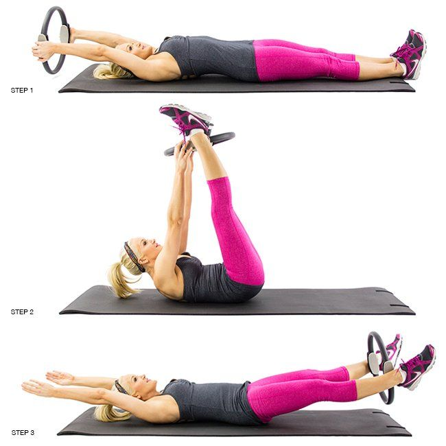 Lying Ring Pass: Here's another great one for your core that also includes both your upper and lower body.