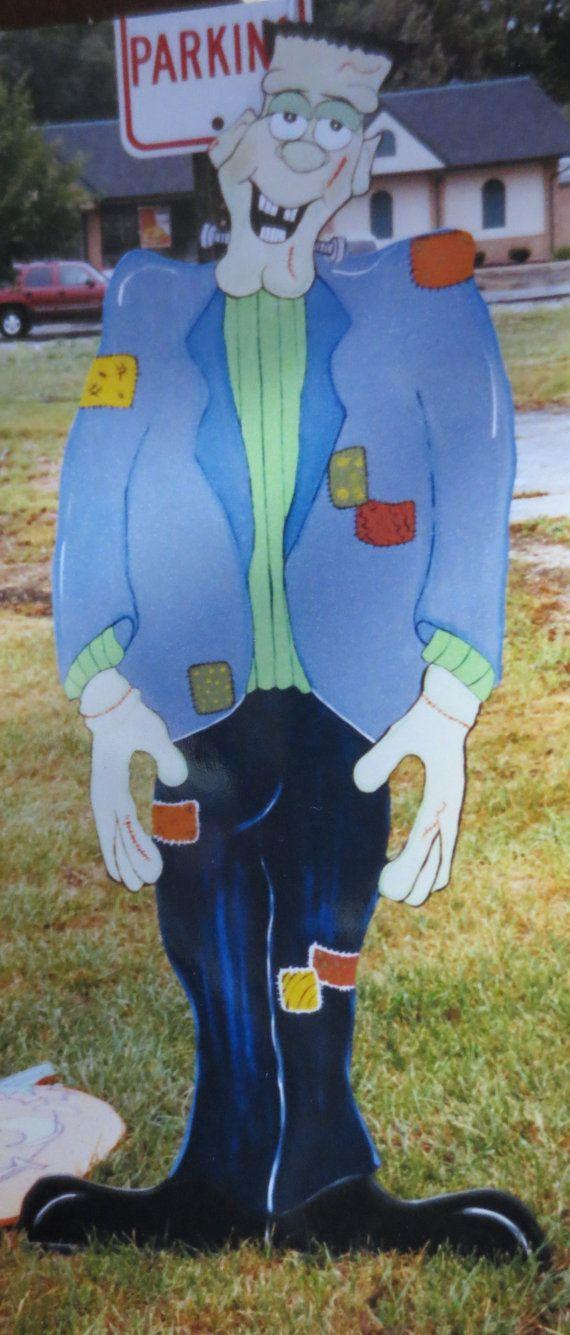 Frankenstein Huge Hallowen Decor Outdoor Wood Yard by chardoman, $150.00