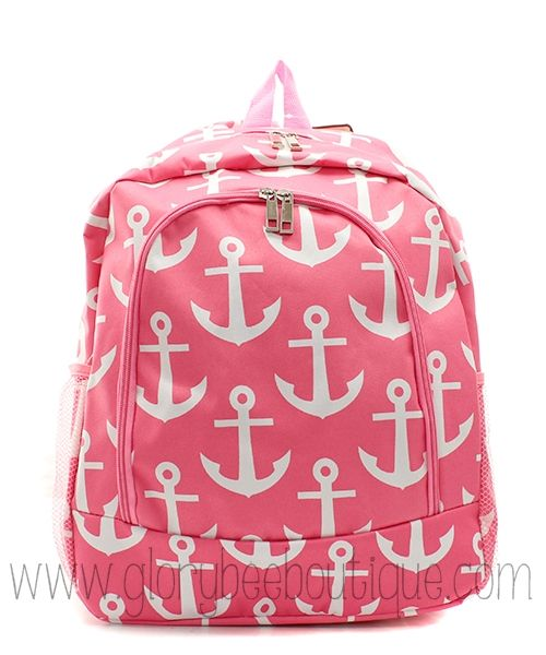Monogram Anchor Backpack-Monogrammed Navy Anchor Backpack-Pink Anchor Backpack-Back to school-www.glorybeeboutique.com