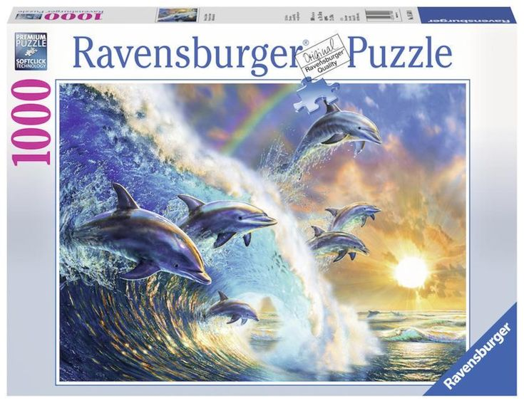 Ravensburger Jigsaw Puzzle 1000-Piece - Dancing Dolphins
