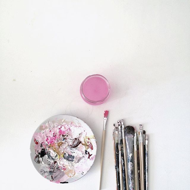 Pink makes me happy.. #painting #slowdown