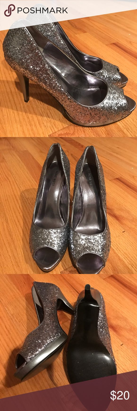 Nine West Glitter High Heel 8.5 Nine West Glitter High Heel 8.5. In excellent condition. Only worn once. Nine West Shoes Heels