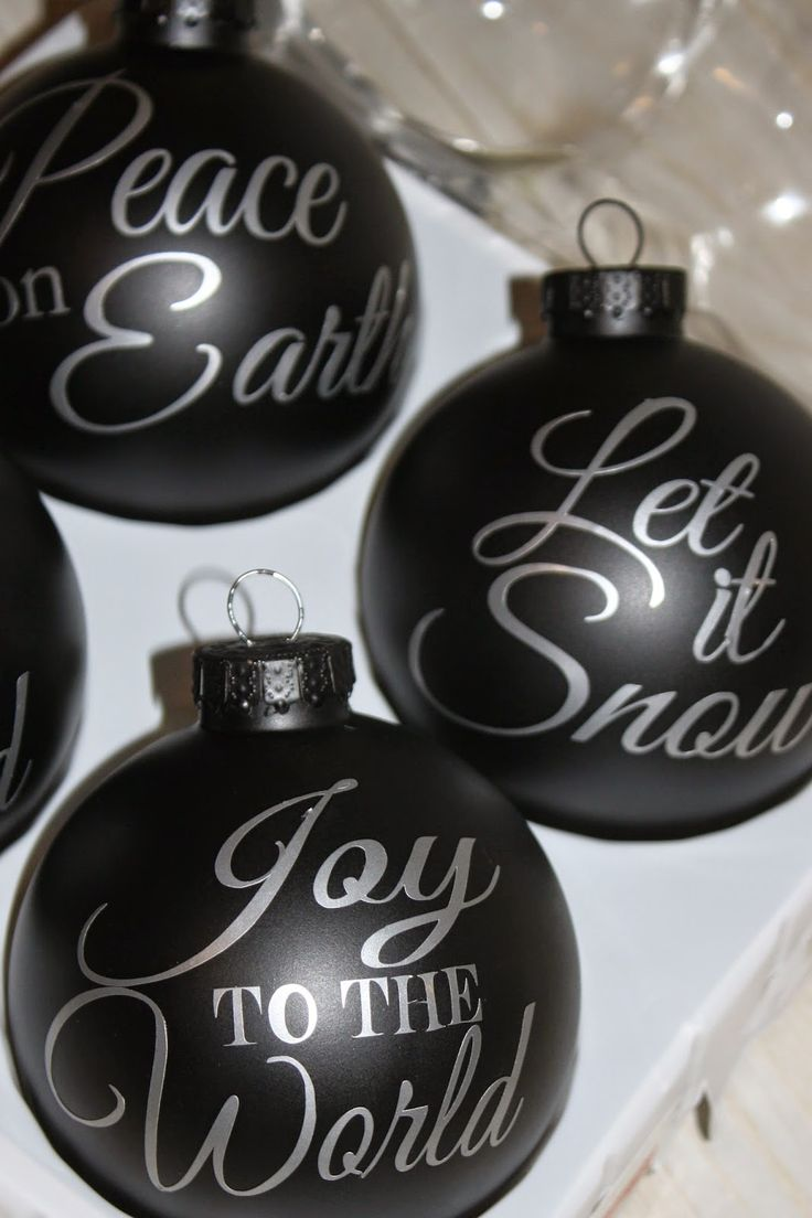 DIY Pottery Barn Ornaments ~ Free Silhouette File | Pinafores & Pinwheels