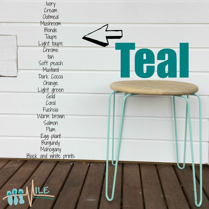 Teal goes with...