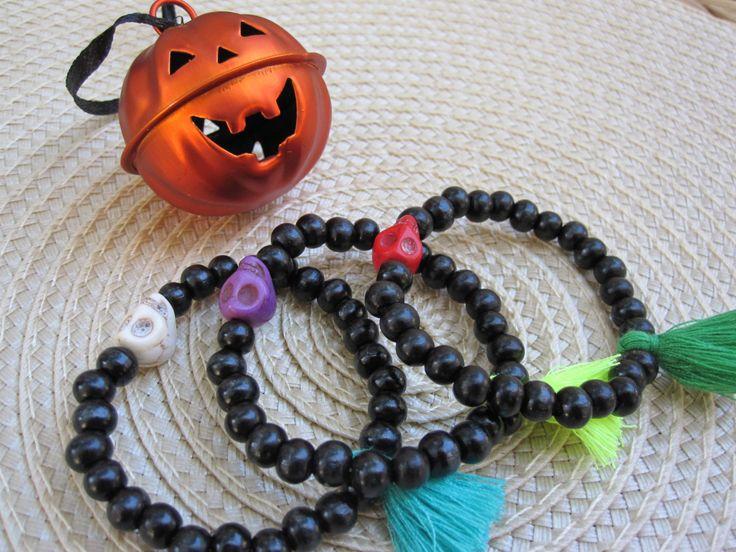 Baby Halloween bracelet by MykonosByBoni on Etsy