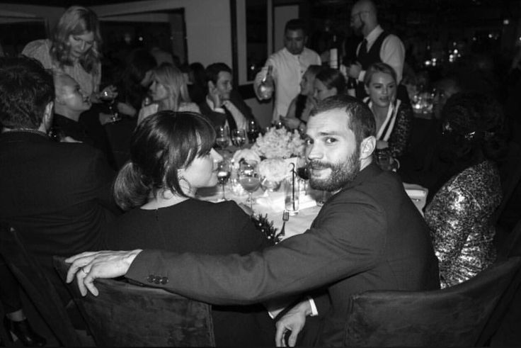 New/old photo of Jamie Dornan and wife Amelia Warner at the pre-Oscar dinner via Greg Williams Photography on Vero...