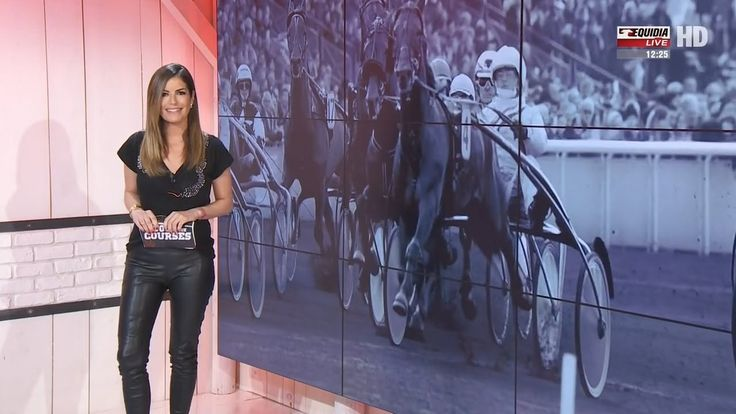 Amelie Bitoun French Presenter Leather pants 14 3 2017