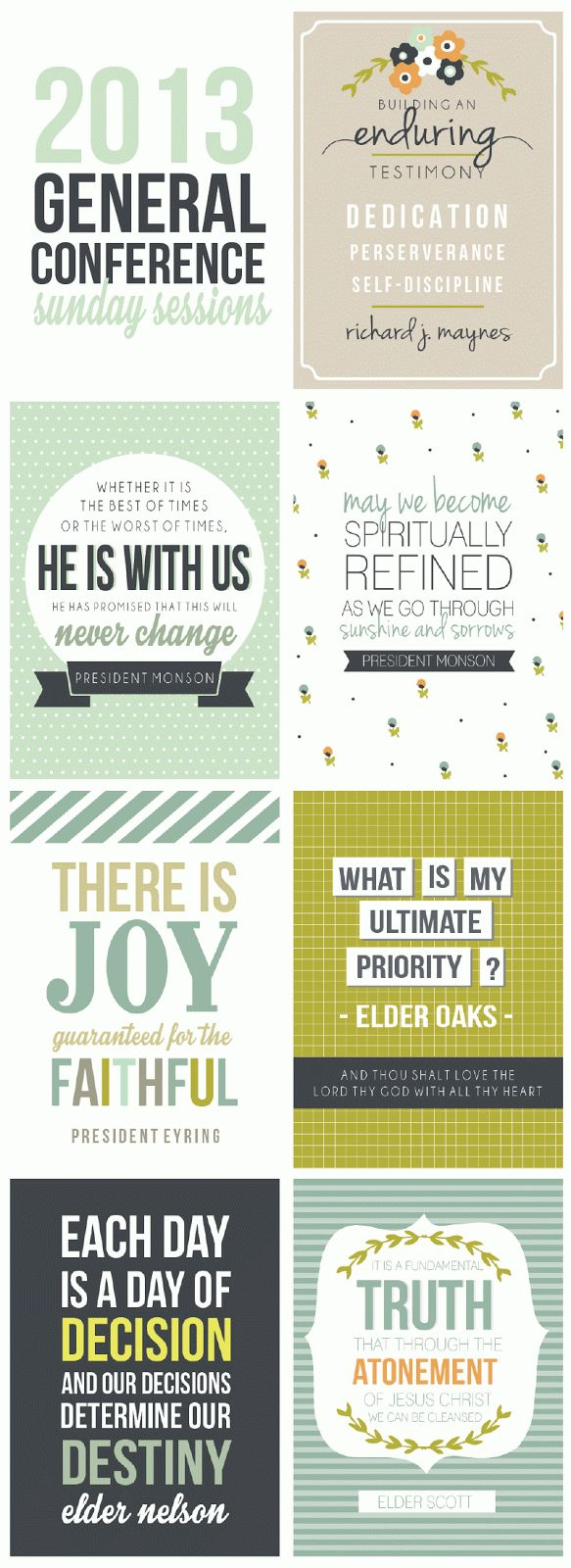 #ldsconf General Conference printables sunday session