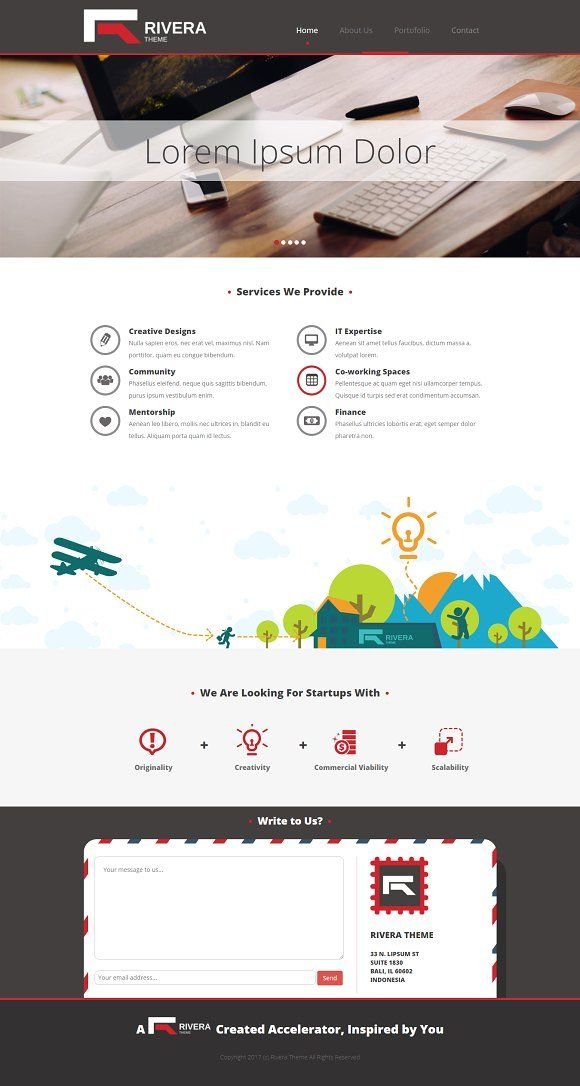 Rivera Startup Company Profile Startup Company Website Template Design Company Profile Template