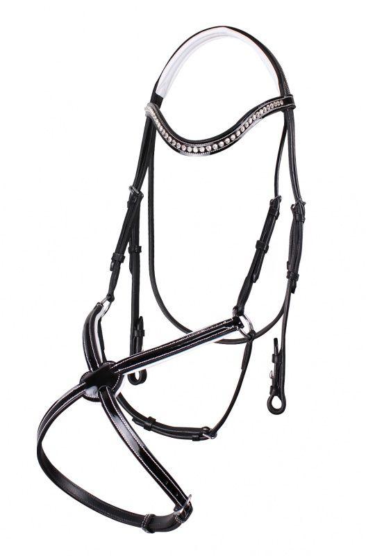 QHP Aphrodite Crackle Leather Bridle