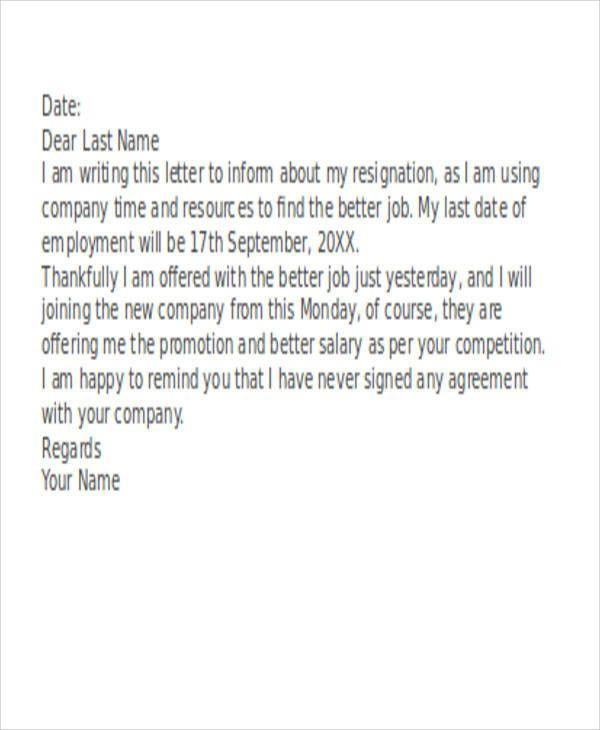 Funny Resignation Letter Sample Elegant Sample Funny Resignation