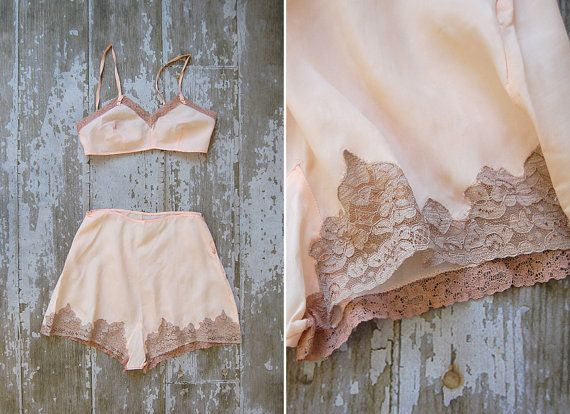 Just heavenly...vintage lingerie set / vintage 1930s boudoir set / by adorevintage