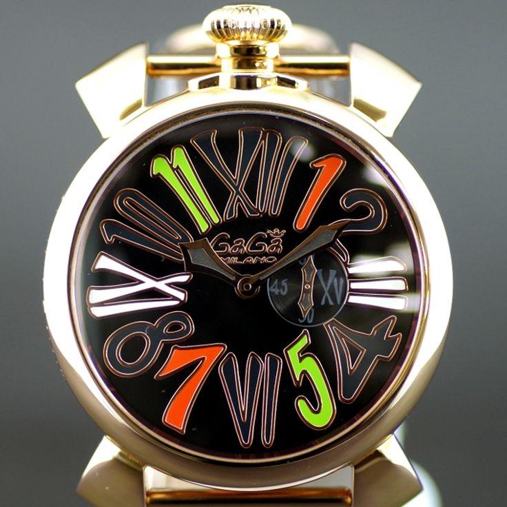 【中古】GaGa MILANO(ガガミラノ) 5081.5 マヌアーレ SLIM46MM BLKLIMITED クオーツ PGP メンズ ブラック文字盤時計/ブラックダイヤルに映える華やかなゴールドケースとメッシュブレスが印象的な世界限定250本のガガミラノスリムです。/新品同様・極美品・美品の中古ブランド時計を格安で提供いたします。