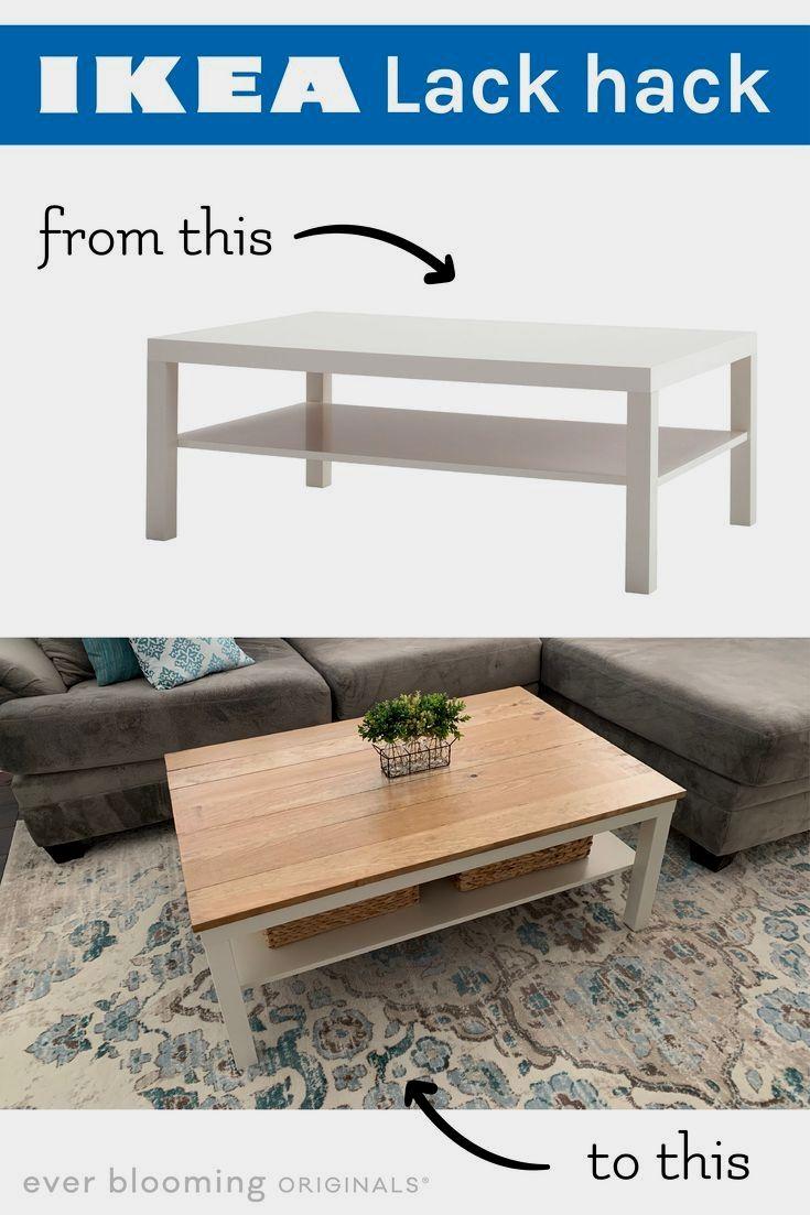 Ikea Lack Farmhouse Coffee Table Hack Coffee Table Hacks Ikea Lack Coffee Table Lack Coffee Table [ 1103 x 735 Pixel ]