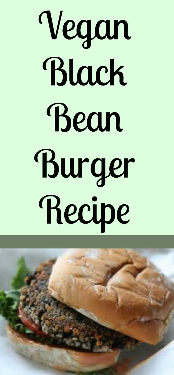 Easy Black Bean Burger Recipe