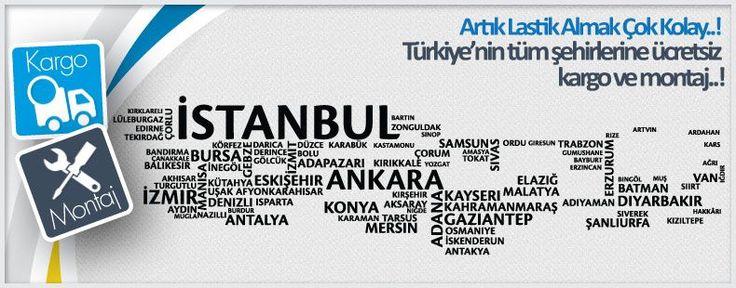 Lastikcim.com.tr sitesi üzerinden vermiş olduğunuz lastik siparişleriniz de Tüm Türkiye'de kargo, montaj ve balans hizmeti ücretsizdir.   Ücretsiz Montaj ve Balans hizmetimizden yararlanabilmek için 48 saat öncesinde 0850 480 63 29 montaj hizmet hattımız aranarak randevu alınmalıdır. Randevusuna gidemeyecek olan müşterilerimizin en geç 24 saat içerisinde montaj hizmet hattımızı arayarak gidemeyeceklerini bildirmeleri gerekmektedir.