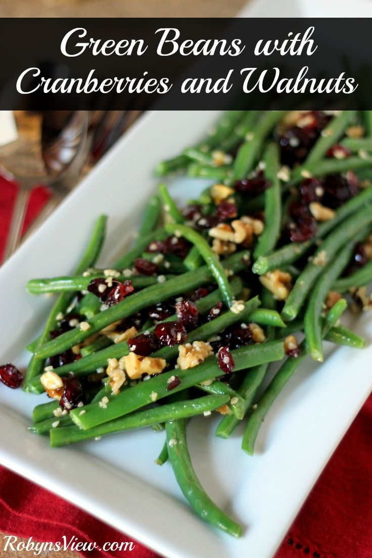 Green Beans with Cranberries and Walnuts