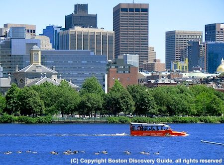 Want a unique sightseeing adventure? Try a Boston Duck Tour that shows you top city attractions...and then plunges into the river for a memorable cruise.