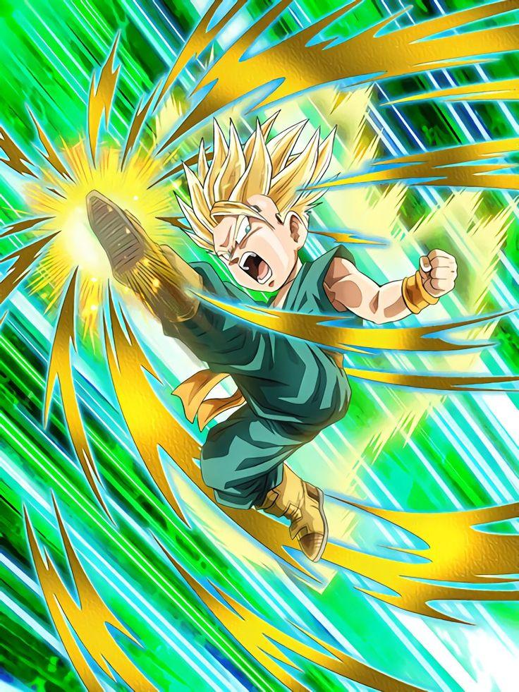 "[Inborn Pride] Super Saiyan Trunks (Kid) ""Time to punch it up!"" ""Full power!"""