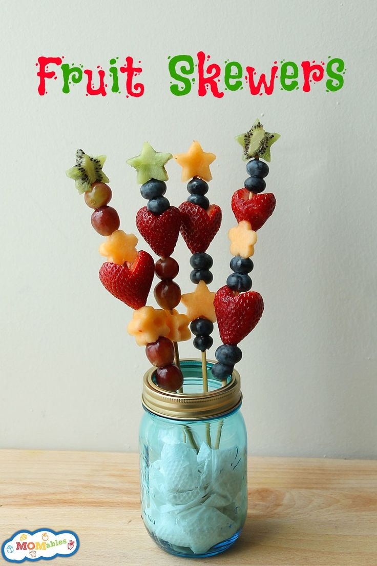 Fruit skewers are easy to make, sure to please and great for prepping ahead.