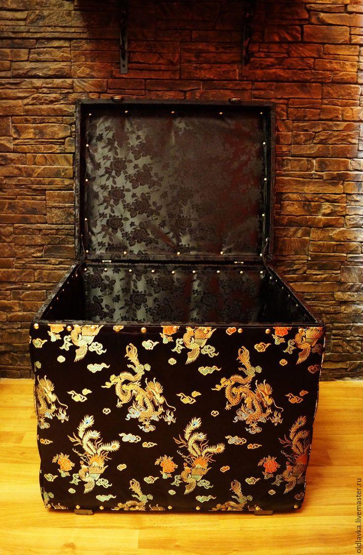 "Купить Сундук ""Китайский шелк"" - магазин декора, новинки дизайна, старый сундук, интерьер гостиной"