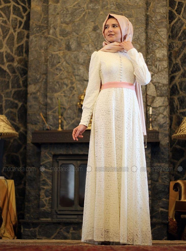 Lace Dress - Mevra - Dresses - Modanisa
