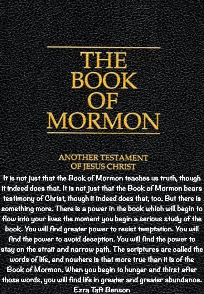~The Book of Mormon quote by Ezra Taft Benson~ This book is a must in my 72 hour kit!