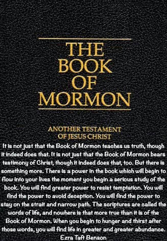 ~The Book of Mormon quote by Ezra Taft Benson~