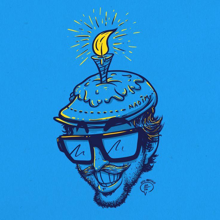 Digital Caricature / Nadim Happy Birthday