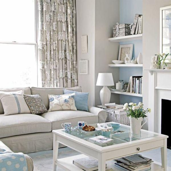 Wohnzimmer Hellgraue Wand Wohnen Pastellfarben Wohnungseinrichtung Ideen