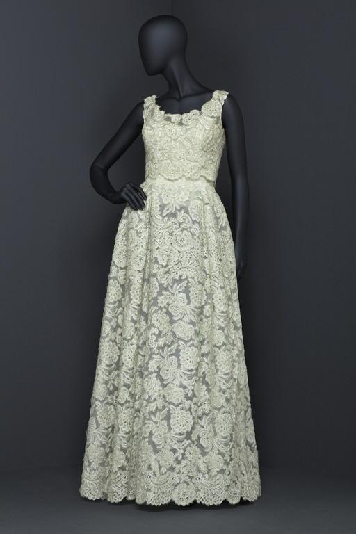Pale-Green Lace Evening Dress. Swedish, 1957-1959.