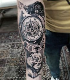 Watch tattoo on forearm - Pesquisa Google