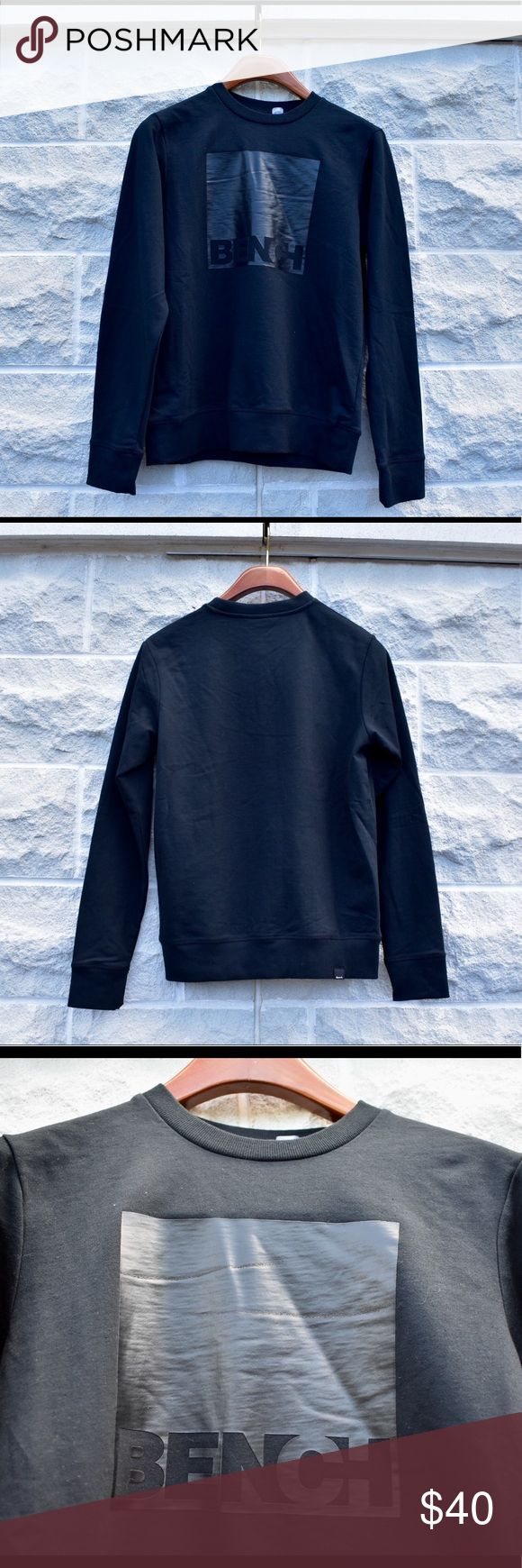 🔥 Black on Black Bench Logo Crew Neck Sweater 🔥 🔥 Black on Black Bench Logo Crew Neck Sweater 🔥 absolute flame piece of gear, with this black on black Bench box logo crew neck sweater a nice essential staple for your wardrobe Bench Shirts Sweatshirts & Hoodies