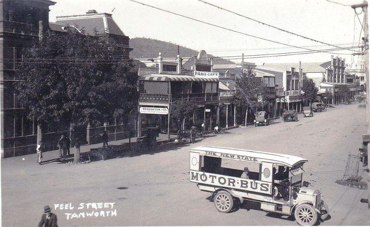 Peel Street, Tamworth, NSW, early 1900s