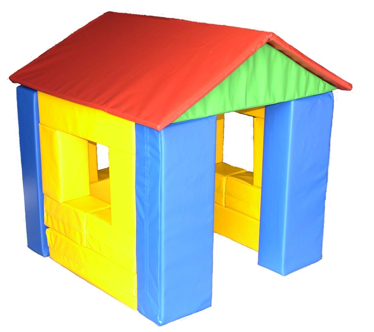 Soft toddler play soft foam block house add to your for Foam block homes