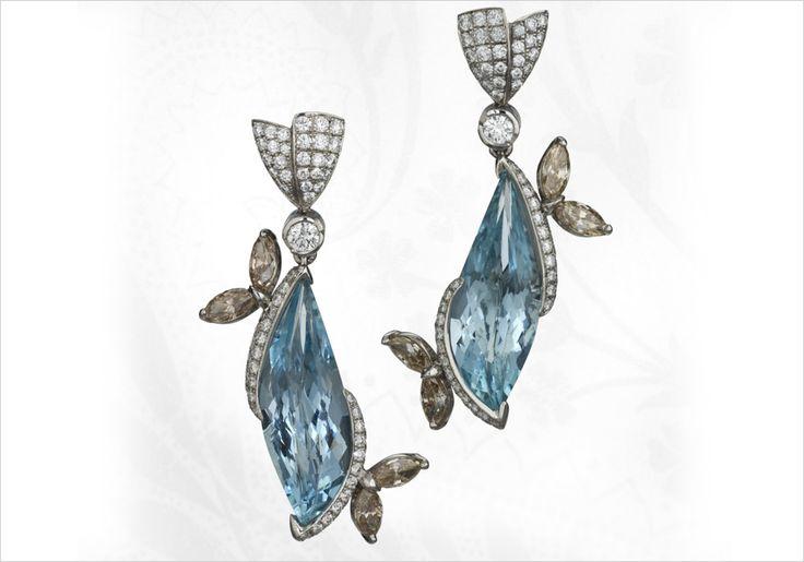 JJBuckar / JJ Buckar, Bespoke Something Blue earrings:  First Place Platinum Category | 2007 Canadian Jeweller Excellence in Design Award Third Place Bridal | 2008 Spectrum Award