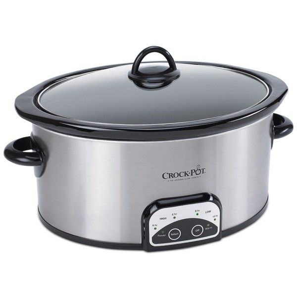 Crock-Pot SCCPVP400-s 4-Qt. Smart-Pot Slow Cooker ($45) ❤ liked on Polyvore featuring home, kitchen & dining, small appliances, silver, programmable slow cookers, crock pot crock pot, programmable crock pots and crock pot slow cooker