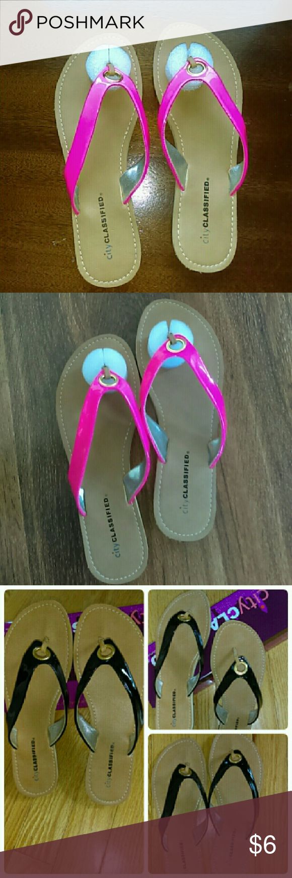 🎉 Sale🎉 Hot Pink Patent Leather Sandals 🎉sale $5 Clearance🎉    Cute and fun for summer look stylish while being comfortable with these patent leather sandals   Available in black and orange in separate listing Shoes Sandals