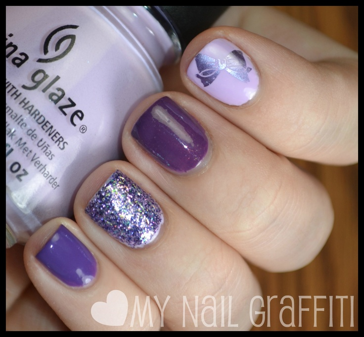 Various purples with stamping on the pointer finger.