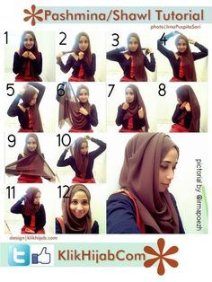 Hijab tutorial hijab fashion, tutorials, shawl tutori, hijabs, hijabi, hijab tutorial