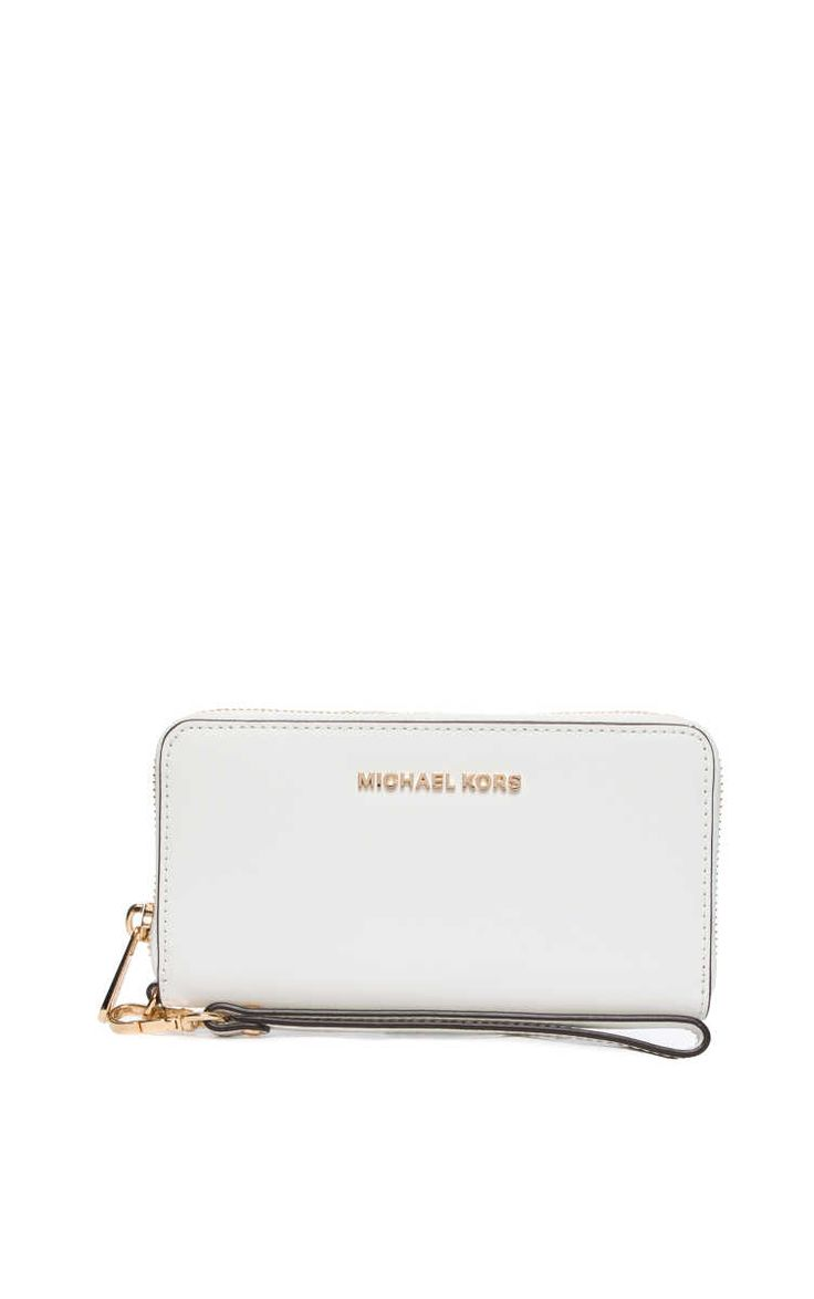 Plånbok Jet Set Travel LG Coin MF Phn Case OPTIC WHITE/GOLD - Michael - Michael Kors - Designers - Raglady
