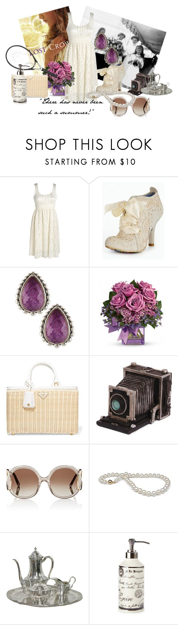 """""""The Lost Crown by Sarah Miller"""" by maryboleyns ❤ liked on Polyvore featuring ...Lost, Irregular Choice, Lagos, Prada, Chloé and vintage"""