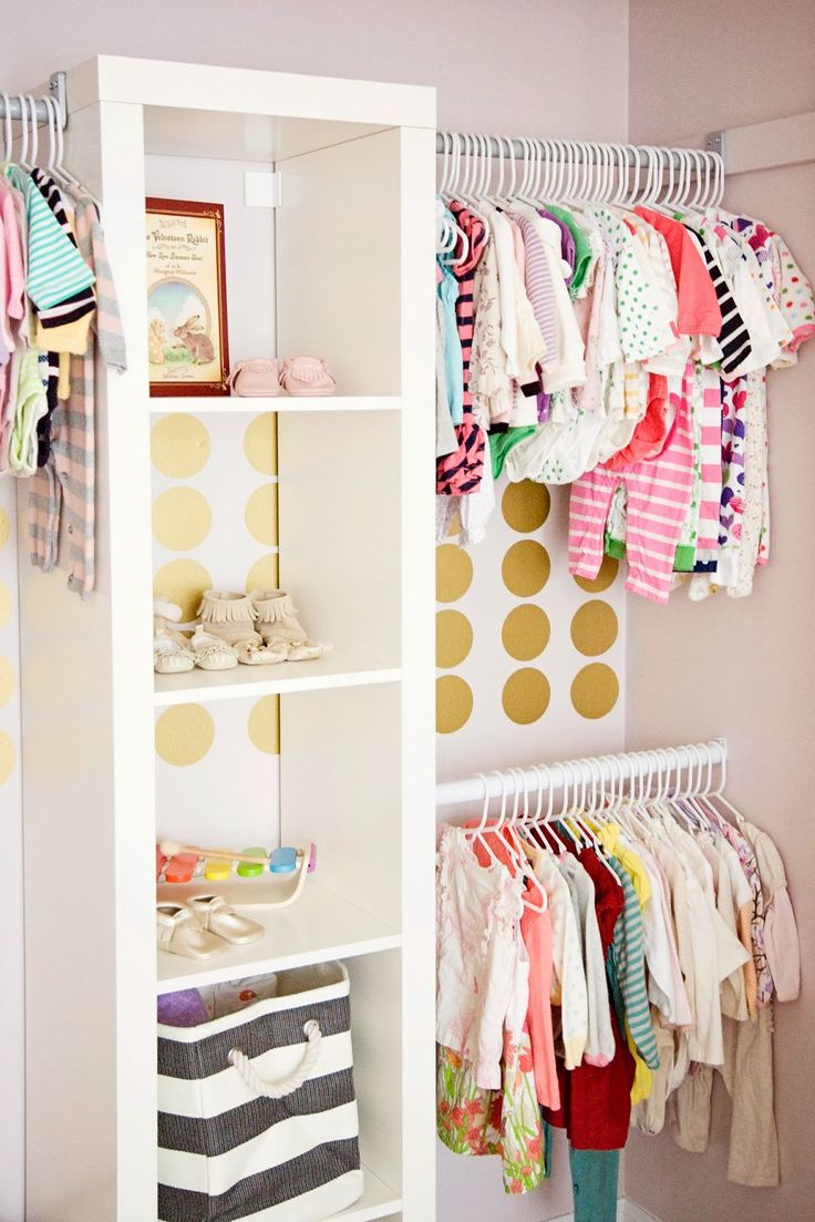 This is genius for homes who's closets are just the rod and top shelf. Use an ikea shelf and attach your rods to it. So much cheaper than hardware store closet kits.