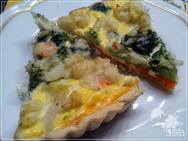 La Nueva Cocina de Leila: Juego de blogueros 2.0: Quiche de coliflor y broco...