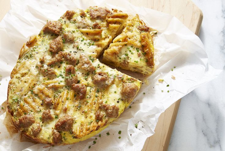 Sausage, Egg, and Cheese Slow Cooker Frittata Recipe | Real Simple