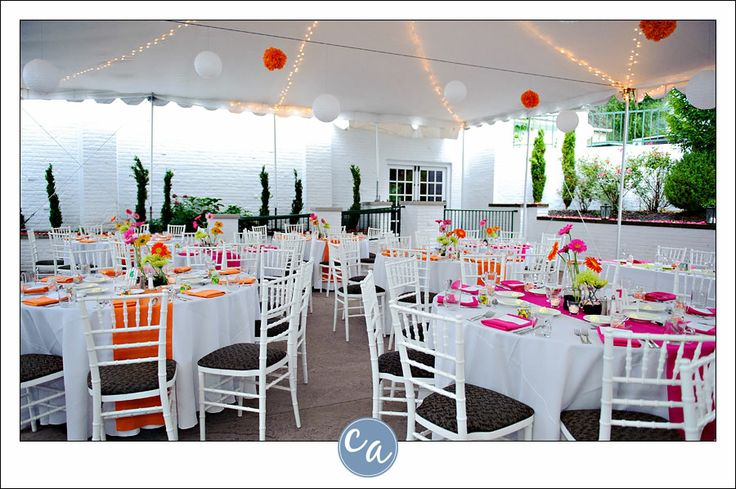 Tent Reception At Manakiki With Orange And Pink Details