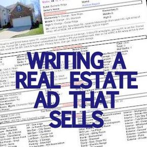 Tips for writing a real estate ad that gets a home sold.
