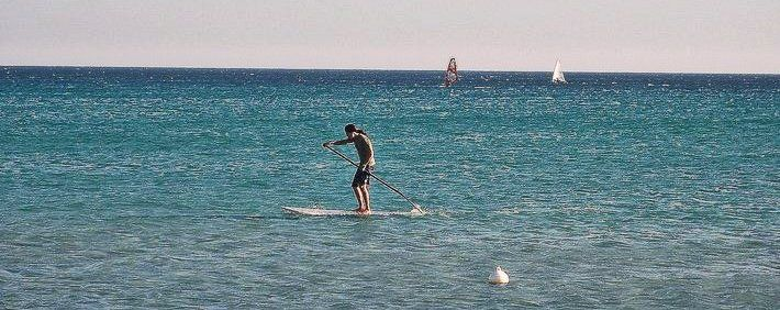 SUP al Poetto (stand up padding)