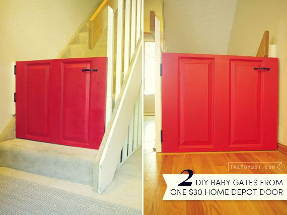 DIY baby gates from one $30 door | TheMombot.com